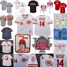 Pete Rose Jersey Base Flexbase Cool Cincinnati Montreal Expos Reds Cooperstown MN Branco Cinza Vermelho Riscas Casa Fora Homens M-3XL cheap pete rose reds jersey de Fornecedores de pete rose reds jersey