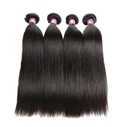 Pedaços de cabelo longo brasileiro on-line-8 - 26 polegada cabelo Humano Virgem tece 1 peça longa Brasileiro Cabelo Liso perucas Frete grátis