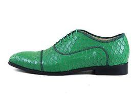 Scarpe in pelle alligatore online-Scarpe da uomo in pelle di alligatore Scarpe da derby lace-up Scarpe da uomo eleganti da uomo di alta qualità per abiti da sposa di alta qualità EU39-EU46