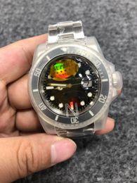 relógios mecânicos unisex azuis Desconto Melhor edição super 904L aço nfactory v9 versão mens automático suíço cal.3135 2836 relógio preto cerâmica moldura de discagem 116610 glidelo mergulho