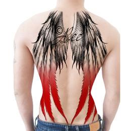 2019 tatuagens de asas de anjo Asas de Asas de Anjo Cor Completa de Volta Adesivos À Prova D 'Água Homens E Mulheres Simulação de Tatuagem Tatuagem Adesivos Duradouros desconto tatuagens de asas de anjo