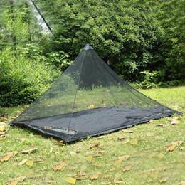 Geformte zelte online-2 Farben 2,2 * 1,2 mt Single Layer Moskitonetz Zelte Outdoor Camping Tragbare Mesh Zelt Pyramidenform Zelte Krippe Netting CCA11515 10 stücke