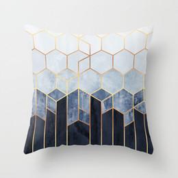 Ev Dekorasyonu 45x45cm Şeftali Kadife Yastık Yastık Kılıf Ebru Geometrik Polyester Koltuk Dekoratif Glitter Yastık Kapak RRA2906 33styles nereden