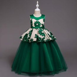 Vestido verde limon para ninas