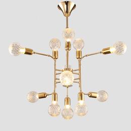 Led nordique postmoderne contracté salon lustres personnalité créative fer art villa composite verre lustre 100-240v ? partir de fabricateur
