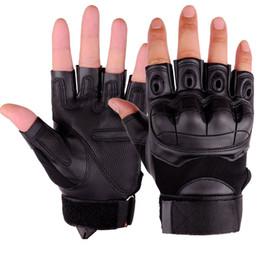 2019 перчатки срезанные Открытый Cut-доказательство нескользящей перчатки Тактические перчатки Half Finger Безопасность Туризм Восхождение перчатки для велоспорта велосипеда оптом скидка перчатки срезанные