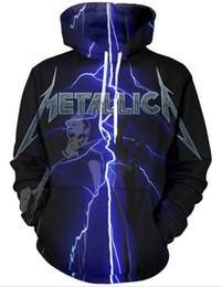 Deutschland Metallica 3D Printed Pullover Hoodies / Mit Kapuze Sweatshirts für Frauen / Männer U01 Versorgung