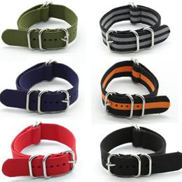 bracelets zoulous Promotion Offre spéciale gros 20mm 22mm 24mm Nylon Bande de Montre Nato Couleur Zulu Nylon Bracelets de Montre