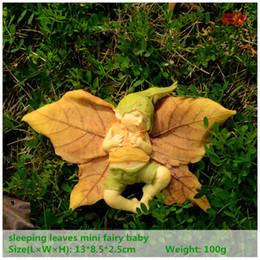 Außenbaumschmuck online-Tägliche Sammlung Harz Engel Figur Weihnachtsbaum / Halloween Dekorationen Garten Dekor schlafende Fee Baby Outdoor Statue