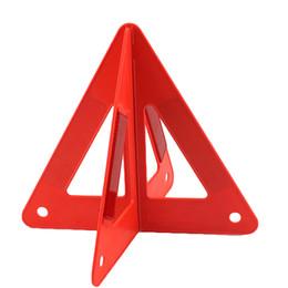 Auto sinalização de advertência reflexiva do triângulo de advertência da emergência do carro 26 * 25 * 23CM sinal de aviso QUENTE do carro de Fornecedores de cortinas de sombra exteriores