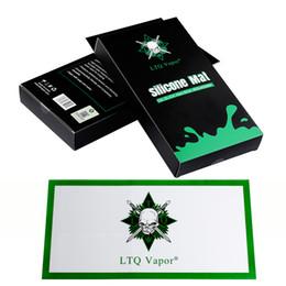 Аутентичные LTQ Vapor Силиконовый коврик Dab Mats 800x400MM Square Big Pad Jar Инструменты для сухой травы Vaporizer Воск для выпечки Колодки Dabber Sheet DHL free от Поставщики квадратный силиконовый коврик для выпечки