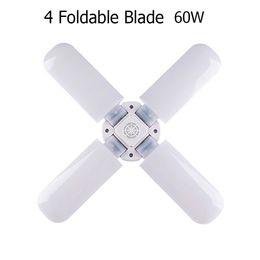 lampadario multicolore Sconti 60W E27 E26 Lampadina a LED 96-265V Super Luminoso Pieghevole Fan Blade Angle Lampada da soffitto regolabile Lampada a LED a risparmio energetico per la casa