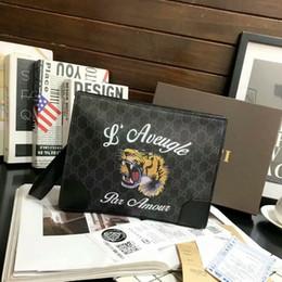 casos de tablet animal Desconto Venda de 2019 novos homens de luxo maleta de moda da marca saco de mão carteira moda envelope bolsa bolsas bolsas LAN01