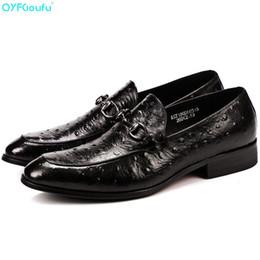 Deutschland QYFCIOUFU Luxus Herren Leder Oxfords Schuh Italienische Echtes Leder Hohe Qualität Kuh Straußenmuster Slip On Formelle Schuhe supplier ostrich leather shoes Versorgung