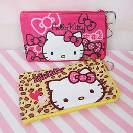 075faf2d8 Hello Kitty Bag Mini Pouch Coin Bag PU Purse Zero Wallet Portable Girls  Purses Small Bags Children Gift pochette porta moeda P-4