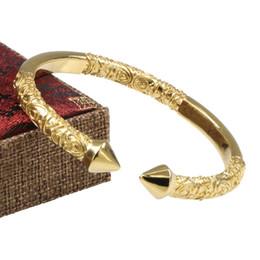 2019 padrões de pulseira de ouro para as mulheres Moda de luxo para homens e mulheres que abrem seta Pulseiras Bodhi pulseira de ouro padrão Jóias Presente Do Partido desconto padrões de pulseira de ouro para as mulheres
