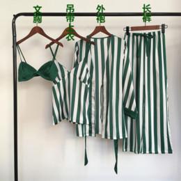 seide nachthemd in voller länge Rabatt Silk Solid Ganzkörperansicht 2 Stück Pyjamas Damenmode Pyjamas für Damen Pyjama-Set Nachtwäsche Homewear Nachthemd Nachtwäsche