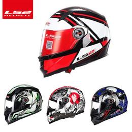 Argentina El más reciente LS2 ff358A la cara llena Urbana Racing casco de la motocicleta ECE Aprobado casco casco de moto capacete, envío libre Suministro