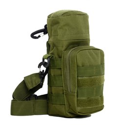 Тактическая бутылка с водой онлайн-Outdoor Traveling Climbing Hiking Camping Backpack Tactical Shoulderbag Utility Water Bottle Bag Pouch