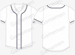 Negozi di baseball online-Gamemen negozio 001 Baseball Jerseys Uomini Kid adulti Lady gioventù Donne personalizzato cucito Qualsiasi Tuo Nome Numero S-4XL