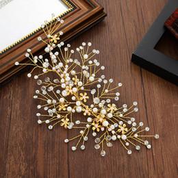 2019 diadema roja brillante Bodas de dama de honor nupciales de boda Tiaras de plata Rhinestone hecho a mano perlas Diademas Accesorios para el cabello de lujo Tiara Gold Pines de clip C04