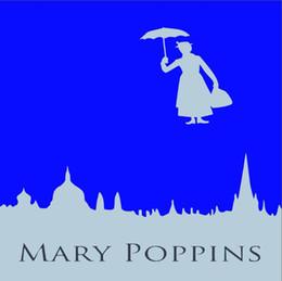 2019 8x8ft foto sullo sfondo 8x8FT Vintage anni '60 Mary Poppins Studio fotografico personalizzato Fondali Fondali in vinile 240cm x 240cm 8x8ft foto sullo sfondo economici