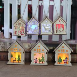 luci di decorazione per i festival Sconti Festival Led Light Wood House Albero di Natale decorazioni per la casa Hanging regalo di natale di ornamenti vacanza Nizza Matrimonio Navidad 2018