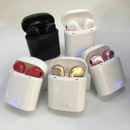 Cargador inalámbrico mini online-HBQ i7 i7S TWS Auricular Bluetooth Gemelos Auriculares Inalámbricos Con Cargador Dock V 4.2 Auriculares Estéreo Nuevo Mini Para iPhone Samsung