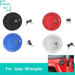 Tanque de aluminio online-Tapa del depósito de gasolina de aleación de aluminio con cubierta de decoración de llaves para Jeep Wrangler 2007-2018 Accesorios para el exterior del automóvil