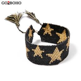 Go2boho Dropshiping Großhändler MIYUKI Rocailles Armband Schmuck Männer Ethnische Armbänder Sterne Gewebt Freundschaft Beste Geschenke Frauen von Fabrikanten