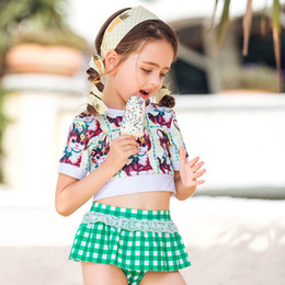 2a02db07e2 2019 new Girls Swimsuit kids swimwear little girls clothing Kids Bathing  Suits Girls Swimsuit Two-piece Child Sets Beachwear A3133