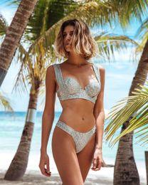Europa mulheres biquíni on-line-2019 novas Mulheres eopard cobra padrão Sxey biquíni Europa e América BIKINI Impressão de Cintura Baixa saco duro Maiô biquíni Conjunto Beachwear