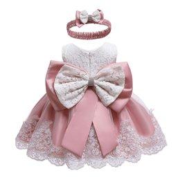 2019 schicht tüll kleid weiße mädchen Kleinkind Kleid 2019 Sommer Baby Prinzessin Party Kleider Für Babys Taufkleid 1 Jahr Geburtstag Kleid Neugeborenes Baby Kleidung MX190719