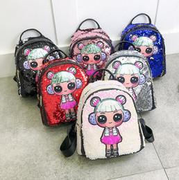 3daebba1fe 2019 mochilas para niños Sorpresa Mochila 24 Estilos Unicornio de Dibujos  Animados Lentejuelas Adolescentes Anime Kids