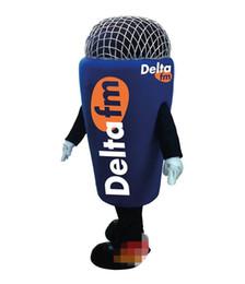Logos de micrófonos online-Micrófono personalizado traje de la mascota LOGO envío gratis