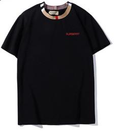 Frauen schwarze hemdstickerei online-Designer Herren T Shirts Schwarz Weiß Damenmode Stickerei T Shirts Top Kurzarm T-Shirts