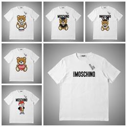 estilo de beisebol camisetas mulheres Desconto Moschino Luxo verão camiseta moda animal impressão mens designer camiseta mangas curtas homens mulheres de alta qualidade casual tees # 876321