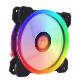 Cpu fallfächer online-3PCS 3IN1 RGB LED 120mm Hochleistungs-Gehäuselüfter mit Fernbedienung für Computer-CPU