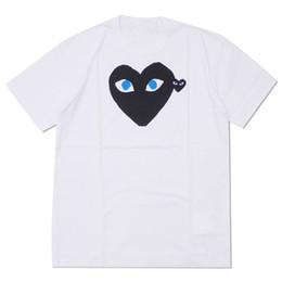 2019 camisas por atacado do às bolinhas 2019 atacado de alta qualidade quente férias camuflagem vermelha coração Emoji camiseta polka dot com cabeça para baixo coração t-shirt (branco) camisas por atacado do às bolinhas barato
