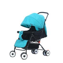 Carrinhos leves dobrados on-line-Portátil Leve Viagem Carrinho de Bebê Multi-ângulo Graus Pram Dobrável Bebê Cariage Infantil Trolley Wagon