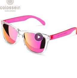 2019 gafas de moda para adultos Gafas de sol COLOSSEIN Mujeres Lindo Multicolor Vacaciones UV400 Protección Gafas de plástico Adultos Hombres Nueva Moda Gafas De Sol rebajas gafas de moda para adultos