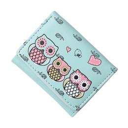 Raccoglitori del gufo dell'annata online-Borsa per le donne bella annata del gufo piccolo portafoglio Hasp borsa moneta soldi titolari di carta portafogli di alta qualità più recente #YL