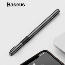 2019 teléfonos con pantalla táctil resistiva Baseus Universal Multifunción Pantalla capacitiva Touch Pen para iPad / iPhone / Samsung / Xiaomi / Huawei
