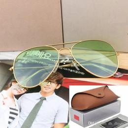 8b404027b5 Vente chaude lunettes de soleil aviateur RAY Vintage Pilot marque lunettes  de soleil polarisées UV400 interdit hommes femmes miroir 58mm 62mm  lentilles en ...