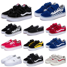 shoes kids 22 Coupons - Cheaper Fashion Designer Kids Canvas Shoes Old Skool SK8-HI Skateboard Shoes Black White Blue Red Boy Girl Baby Casual Sport Sneakers 22-35
