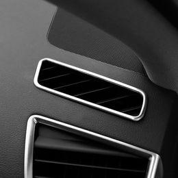 2019 cubiertas de ventilación para automóviles Car Styling Dashboard Air Vent Decoración Marco Cubierta Para Audi Q5 2010-2016 Salida de Aire de Acero Inoxidable Recortar Accesorios de Auto rebajas cubiertas de ventilación para automóviles