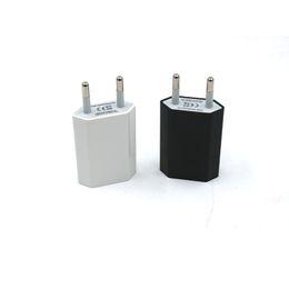 enchufes estándar Rebajas Cabezal de carga estándar universal europeo, cabeza redonda, teléfono móvil, enchufe estándar, cargador USB, cargador de enchufe de carga europeo