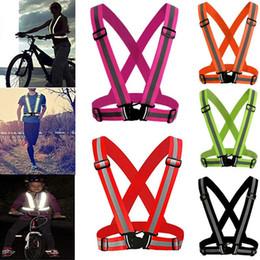 chaleco de engranajes Rebajas Reflexivo Seguridad Ajustable Seguridad Chaleco de alta visibilidad Chaleco de rayas de rayas Chaleco de engranajes Chaqueta de rayas para correr ciclismo MMA1216
