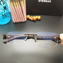 a7cd2a340d7e 2019 Luxury Rimless Glasses High Quality Titanium Eyewear for Business  Leisure Reading Famous Designer Brand Men Eyeglasses with Retail Box