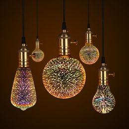 2019 cocktails träume neonschild Nachtlicht 3D Lampe Feuerwerk Effekt 3D LED Birne E27 Novetly AC85V-265V Weinlese-Dekorations-Feiertags-Weihnachtslicht für Hauptstange